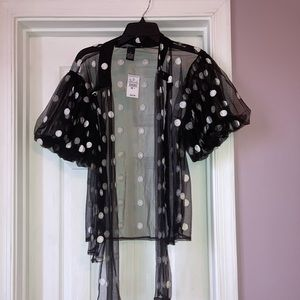 Ashley Stewart Polka Dot Top
